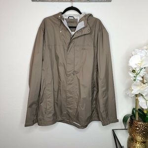 LL Bean Trail Model Rain Jacket Full Zip Trail